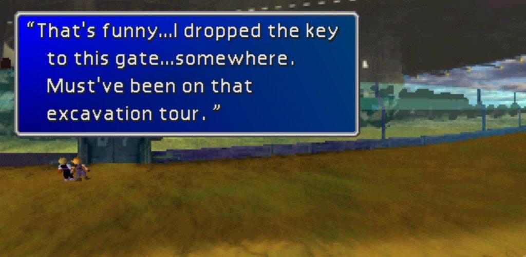 En man som tappat nyckeln till Midgar